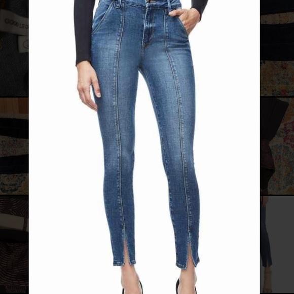 Good American Good Legs split hem jeans